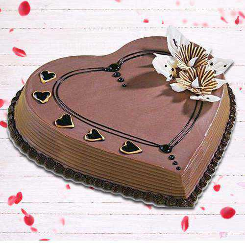 Elegant Coffee Cake in Heart-Shape