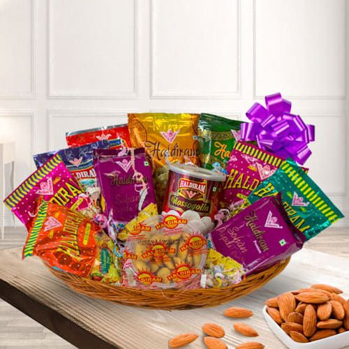 Exciting Snacks Gift Hamper with Good Wishes