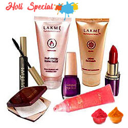 Lakme Make Up Hamper for Beautiful Women with free Gulal/Abir Pouch