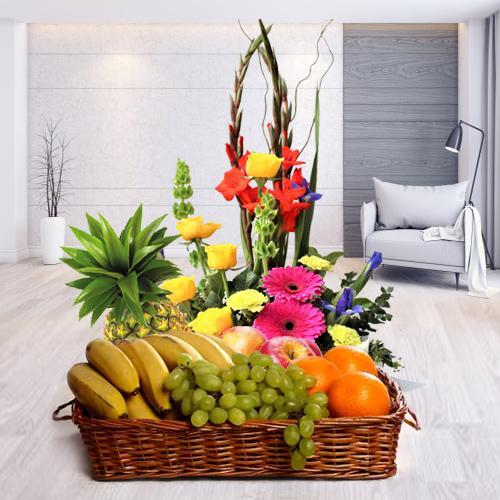 Luscious Fresh Fruits and Pretty Flowers with Affection