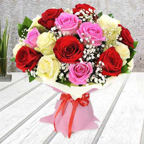 Lovely Season's Finest Choice Mixed Rose Bouquet