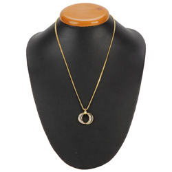 Filled-with-Feelings Stone-Primed Pendant with Chain