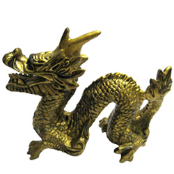 Imposing Golden Feng-Shui Dragon