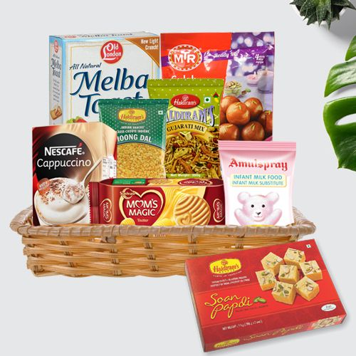 Energetic Gift Basket of Food and Grocery