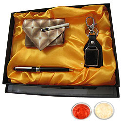 Esteeming Potency Gift Combo for Gents with free Roli Tilak and Chawal
