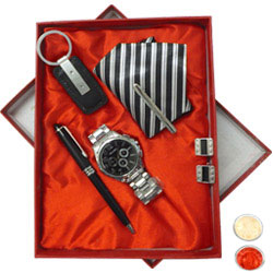 Gent's Ode-to-Manhood Gift Hamper with free Roli Tilak and Chawal