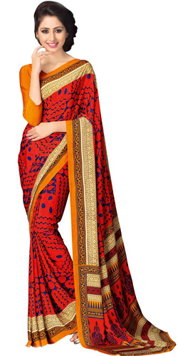 Smart Looking Faux Crepe Saree