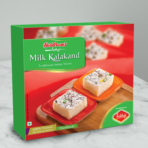 Hunger's Gaiety Milk Kalakand Sweets Box from Haldirams