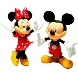 Delightful Combo of Mickey Mouse N Minnie Mouse Action Figures for Little Ones