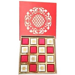Exotic Red Handmade Chocolates Box