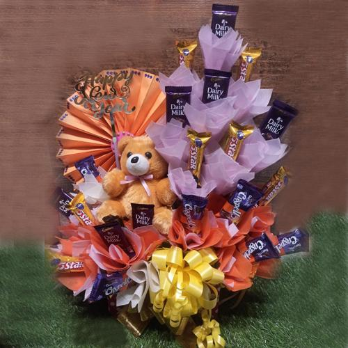 Delectable Assorted Cadbury Chocolates Arrangement for New Year