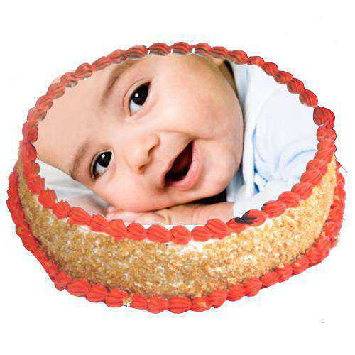 Cheering Gobble Butterscotch Photo Cake<br>