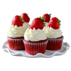 Gratifying Gladness of 5 Assorted Cup Cake Cluster