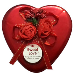 Lovely Gift of Assorted Chocolates in Heart Shape Box