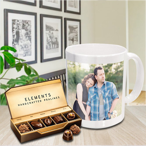 Special Personalized Coffee Mug with Premium Chocolates from ITC