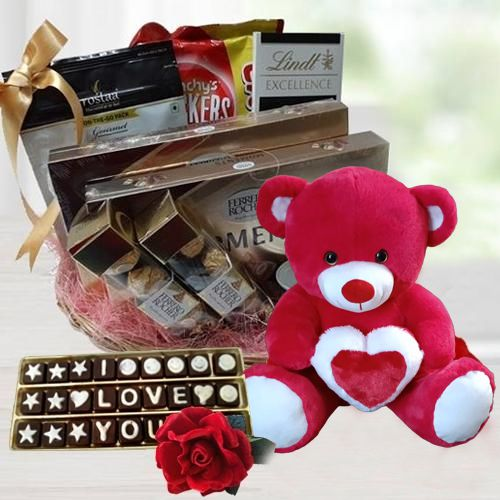 Charismatic Gourmet Gift Basket for Valentines Day