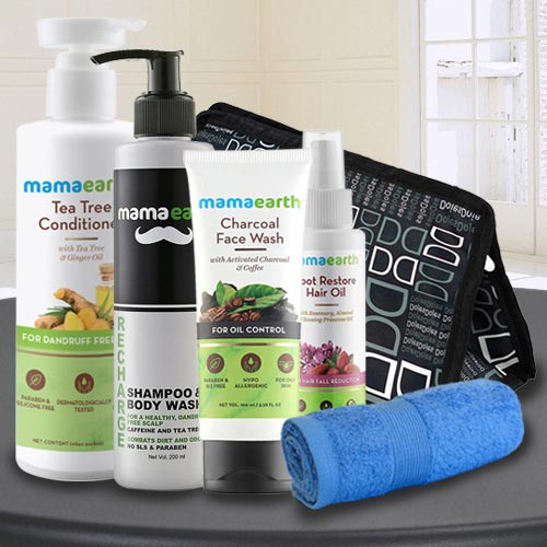 Exciting Mama Earths Care Hamper for Men