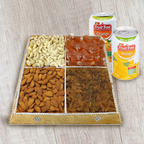 Mood's Pep Dry Fruit and Beverage Combo