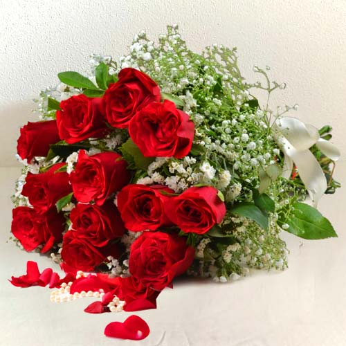 Magical Celebrate the Moments Bouquet of 12 Red Roses