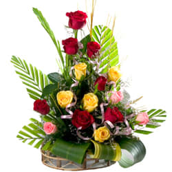 Awesome Mixed Roses Arrangement