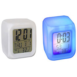 Superb Cube Shaped Colorful Alarm Clock