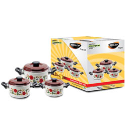 Nirlep 3 Pc Enamelware Gift Set
