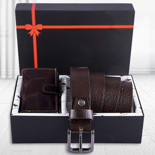 Marvelous Hide and Skin Mens Leather Card Holder, Belt N KN95 Mask