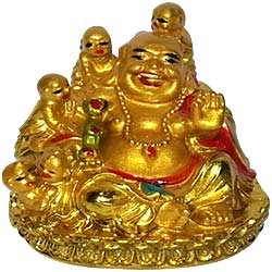 Amazing Little Laughing Buddha with Children