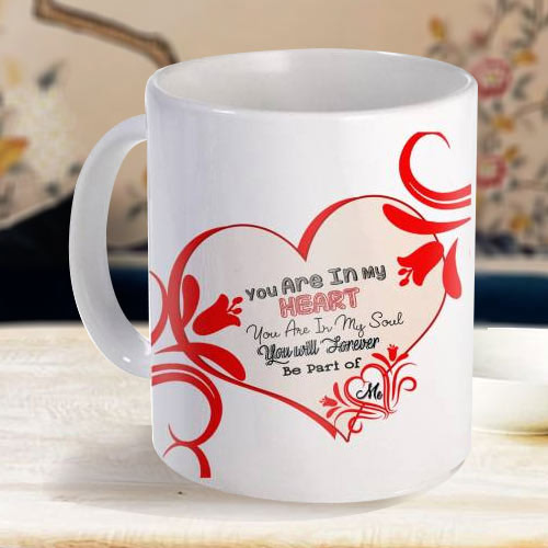 Mind Blowing White Coffee Mug with a Personalized Message