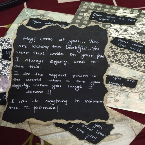 Beautiful Personalized Event Letters