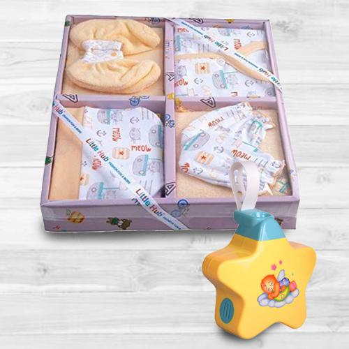 Remarkable Baby Sleep Projector Toy with 13 pcs Clothing Gift Set<br><br>