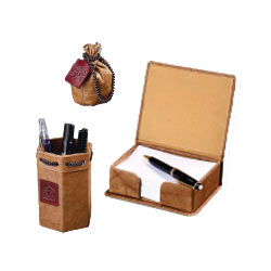 Leather Desktop Accessory Set 2