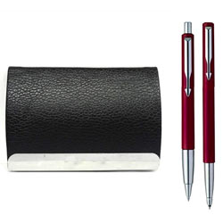 Fabulous Visiting Card Holder with Parker Vector Set