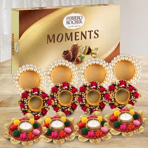 Marvelous Diya Set with Ferrero Rocher