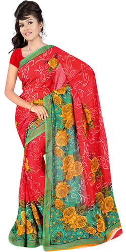 Marvelous Women's Georgette Fabric Saree by Suredeal