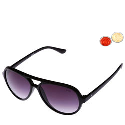 Purple color ladies sunglass from Life with free Roli Tilak and Chawal