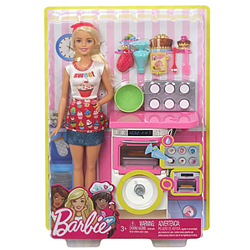 Exclusive Playset of Bakery Chef Barbie Doll for Little Princess