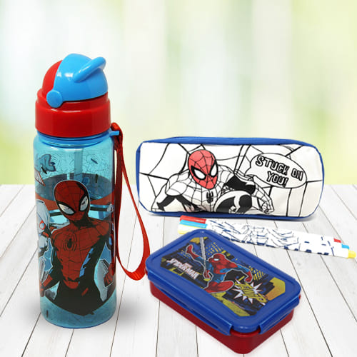 Exciting Spiderman Stationery n Canteen Set