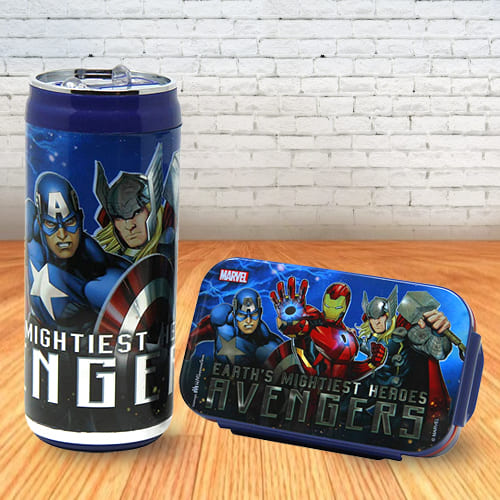 Mesmerizing Disney and Marvel Lunch Box and Sipper Bottle