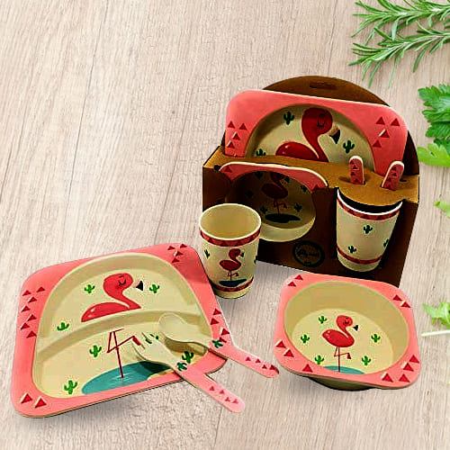 Outstanding Bamboo Fiber Eco-Friendly Kids Feeding Set