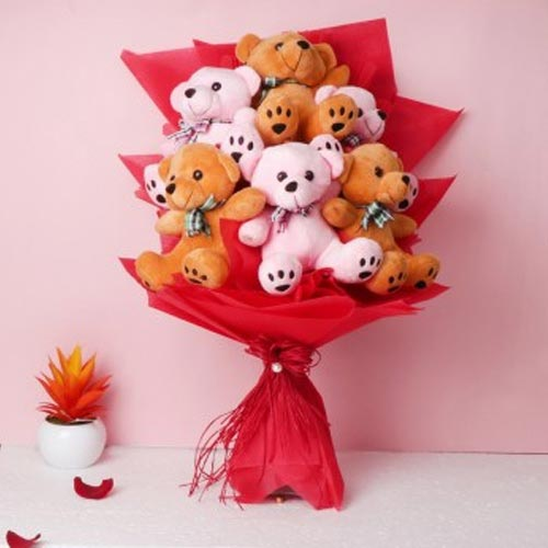 Remarkable Teddies Bouquet