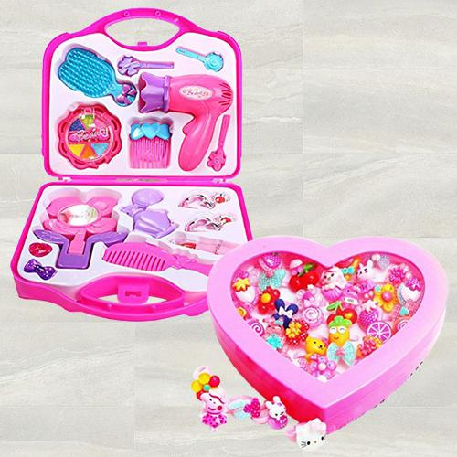 Marvelous Beauty Set N Fancy Finger Rings Box for Girls