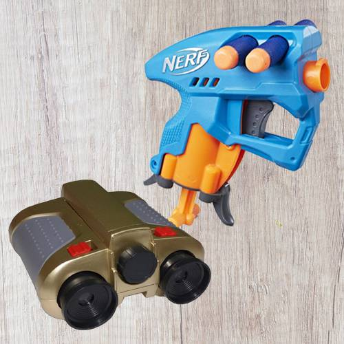 Exclusive Nerf Nano Fire Blaster N Night Scope Binocular with Pop-Up Light