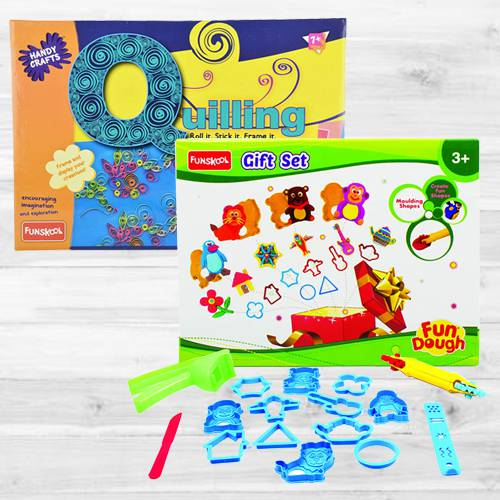 Marvelous Funskool Quilling Art N Fun Dough Gift Set