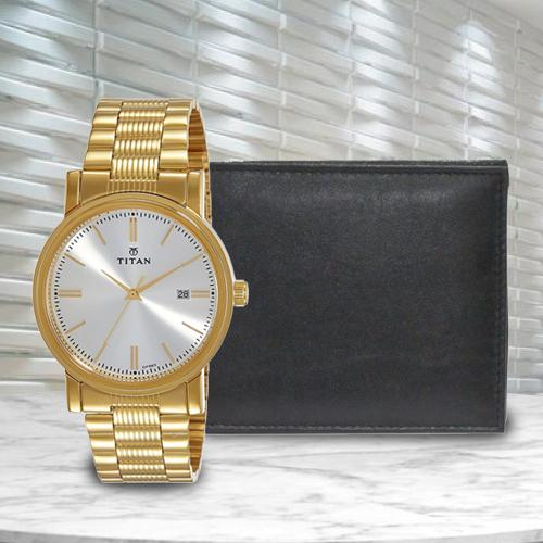 Exclusive Titan Watch with Richborn Wallet