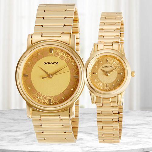 Remarkable Sonata Analog Couple Watch
